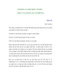 """NỘI DUNG CỦA KHÁI NIỆM """"VĂN HÓA"""" TRONG VĂN CHƯƠNG MÁC-XÍT HIỆN ĐẠI"""