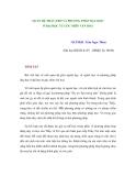 QUAN HỆ THẦY-TRÒ VÀ PHƯƠNG PHÁP DẠY-HỌC Ở ĐẠI HỌC TỪ GÓC NHÌN VĂN HOÁ