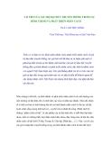 Vai trò của giá trị đạo đức truyền thống trong sự hình thành và phát triển nhân cách - Th.S. Cao Thu Hằng