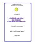 Phân tích hiệu quả tín dụng tại Sacombank An Giang