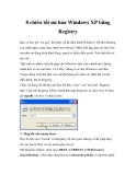 8 chiêu tối ưu hóa Windows XP bằng Registry