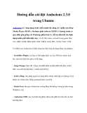 Hướng dẫn cài đặt Audacious 2.3.0 trong Ubuntu