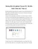Hướng dẫn trải nghiệm Chrome OS