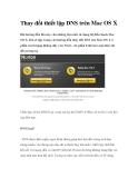 Thay đổi thiết lập DNS trên Mac OS X