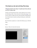 Thủ thuật tạo ảnh mật mã bằng Photoshop