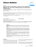 """Báo cáo y học: """"Antimicrobial and antioxidant activities of Cortex Magnoliae Officinalis and some other medicinal plants commonly used in South-East Asia"""""""