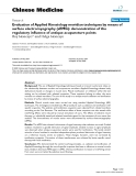 """Báo cáo y học: """"Evaluation of Applied Kinesiology meridian techniques by means of surface electromyography (sEMG): demonstration of the regulatory influence of antique acupuncture points"""""""