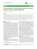 "Báo cáo y học: ""Circumvention of multi-drug resistance of cancer cells by Chinese herbal medicines"""