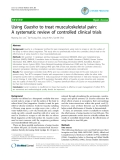 """Báo cáo y học: """" Using Guasha to treat musculoskeletal pain: A systematic review of controlled clinical trials"""""""