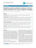 """Báo cáo y học: """" Identifying priority healthcare trainings in frozen conflict situations: The case of Nagorno Karabagh"""""""