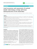 """Báo cáo y học: """"Local recurrence and assessment of sentinel lymph node biopsy in deep soft tissue leiomyosarcoma of the extremities"""""""