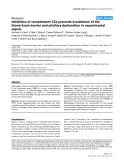 """Báo cáo y học: """"Inhibition of complement C5a prevents breakdown of the blood-brain barrier and pituitary dysfunction in experimental sepsis"""""""
