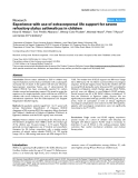"Báo cáo y học: "" Experience with use of extracorporeal life support for severe refractory status asthmaticus in children"""