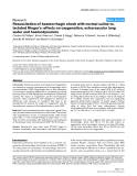 """Báo cáo y học: """"Resuscitation of haemorrhagic shock with normal saline vs. lactated Ringer's: effects on oxygenation, extravascular lung water and haemodynamics"""""""