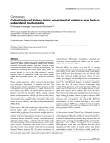 """Báo cáo y học: """"Colloid-induced kidney injury: experimental evidence may help to understand mechanisms"""""""