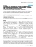 """Báo cáo y học: """"Respiratory and haemodynamic changes during decremental open lung positive end-expiratory pressure titration in patients with acute respiratory distress syndrome"""""""
