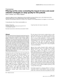 """Báo cáo y học: """"Filtering out the noise: evaluating the impact of noise and sound reduction strategies on sleep quality for ICU patients"""""""
