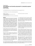 """Báo cáo y học: """"ICU admission and severity assessment in community-acquired pneumonia"""""""