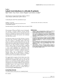 """Báo cáo y học: """"Latent viral infections in critically ill patients"""""""