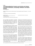 "Báo cáo y học: ""10% Hydroxyethylstarch impairs renal function and induces interstitial proliferation, macrophage infiltration and tubular damage"""