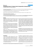 """Báo cáo y học: """"Reliability issues in human brain temperature measurement"""""""