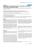 "Báo cáo y học: ""Adiponectin, retinol-binding protein 4, and leptin in protracted critical illness of pulmonary origin"""