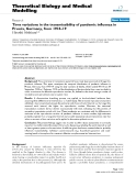 """Báo cáo y học: """"Time variations in the transmissibility of pandemic influenza in Prussia, Germany, from 1918–19"""""""