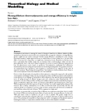 """Báo cáo y học: """" Nonequilibrium thermodynamics and energy efficiency in weight loss diets"""""""