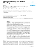 """Báo cáo y học: """"A continuum mathematical model of endothelial layer maintenance and senescence"""""""
