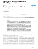"""Báo cáo y học: """" Biological effects of deuteronation: ATP synthase as an example"""""""