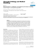 "Báo cáo y học: "" Heterogeneity in multistage carcinogenesis and mixture modeling"""