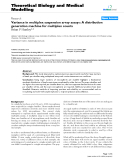 """Báo cáo y học: """" Variance in multiplex suspension array assays: A distribution generation machine for multiplex counts"""""""