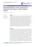 """Báo cáo y học: """"Networked Research buffering: a basic mechanism for distributed robustness in complex adaptive systems"""""""
