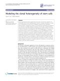 "Báo cáo y học: ""Modeling the clonal heterogeneity of stem cells"""