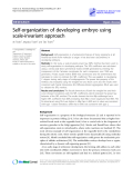 """Báo cáo y học: """"  Self-organization of developing embryo using scale-invariant approach"""""""