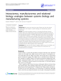 """Báo cáo y học: """"  Interactomes, manufacturomes and relational biology: analogies between systems biology and manufacturing systems"""""""