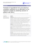 "Báo cáo y học: "" Formation of translational risk score based on correlation coefficients as an alternative to Cox regression models for predicting outcome in patients with NSCLC"""