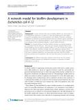 "Báo cáo y học: "" A network model for biofilm development in Escherichia coli K-12"""