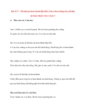 Bài số 17 : Thì hiện tại hoàn thành tiễp diễn (2)