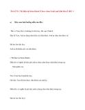 Bài số 20 : Thì hiện tại hoàn thành (I have done) hoặc quá khứ đơn (I did) Phần 1