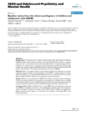 """Báo cáo y học: """"Baseline values from the electrocardiograms of children and adolescents with ADHD"""""""