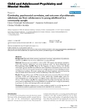"""Báo cáo y học: """"Continuity, psychosocial correlates, and outcome of problematic substance use from adolescence to young adulthood in a community sample"""""""