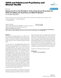 """Báo cáo y học: """" Statement from the President of the International Association for Child and Adolescent Psychiatry and Allied Professions"""""""