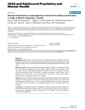"""Báo cáo y học: """"Sexual risk behavior and pregnancy in detained adolescent females: a study in Dutch detention centers"""""""