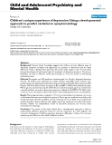 """Báo cáo y học: """"Children's unique experience of depression: Using a developmental approach to predict variation in symptomatology"""""""