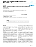 """Báo cáo y học: """"Special section on psychopharmacology trials in children and adolescents"""""""
