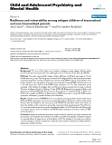 "Báo cáo y học: ""Resilience and vulnerability among refugee children of traumatized and non-traumatized parents"""