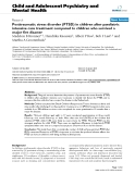 """Báo cáo y học: """"Posttraumatic stress disorder (PTSD) in children after paediatric intensive care treatment compared to children who survived a major fire disaster"""""""
