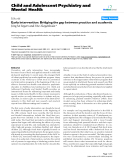 """Báo cáo y học: """" Early intervention: Bridging the gap between practice and academia"""""""