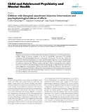 """Báo cáo y học: """"Children with disrupted attachment histories: Interventions and psychophysiological indices of effects"""""""